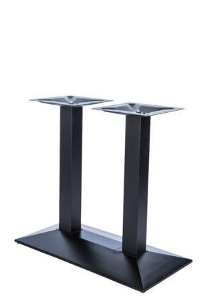Gietijzeren tafelonderstel in zwarte poedercoating